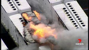 """اندلاع حريق في مخزن بطاريات """"ميجاباك"""" العملاقة لتيسلا في أستراليا"""
