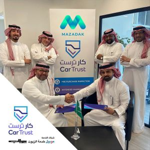 """Mazadak signs important collaboration agreement with """"Car Trust"""" for inspecting and verifying cars"""