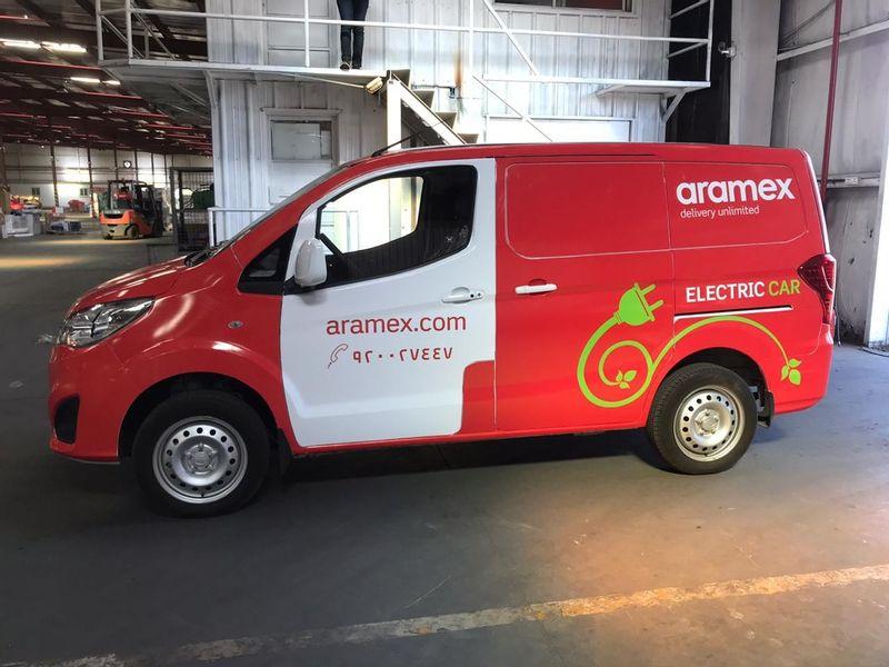 الشركة الأولى المتقدمة تتعاون مع ارامكس لتقديم مركبة كهربائية بالكامل لتوصيل الطرود